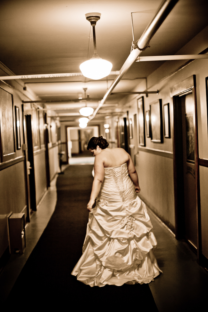 bride on the way to first look