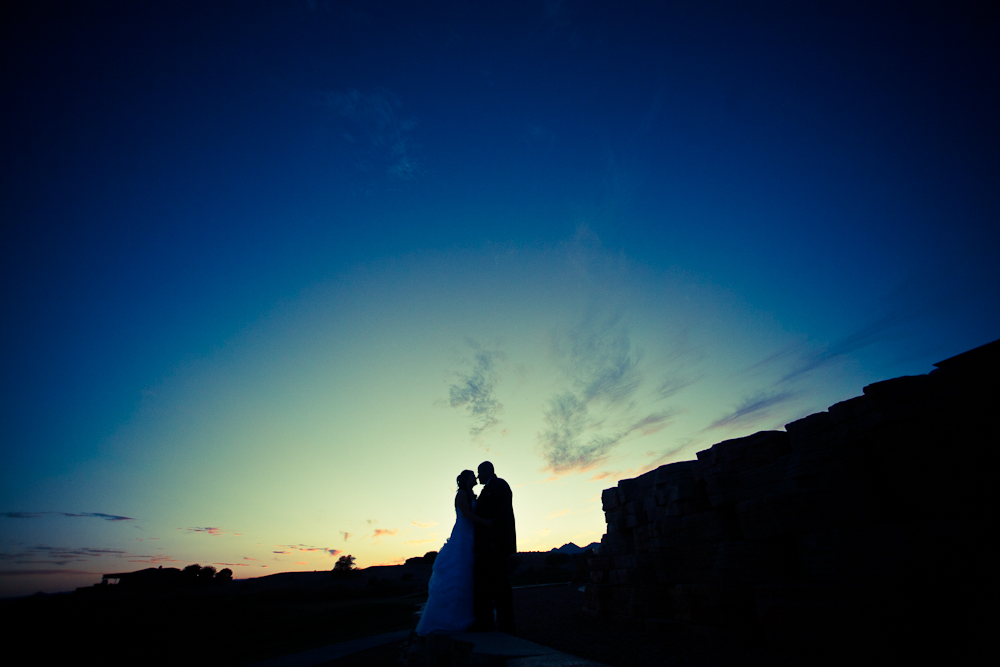 wedding couple photograph at sunset