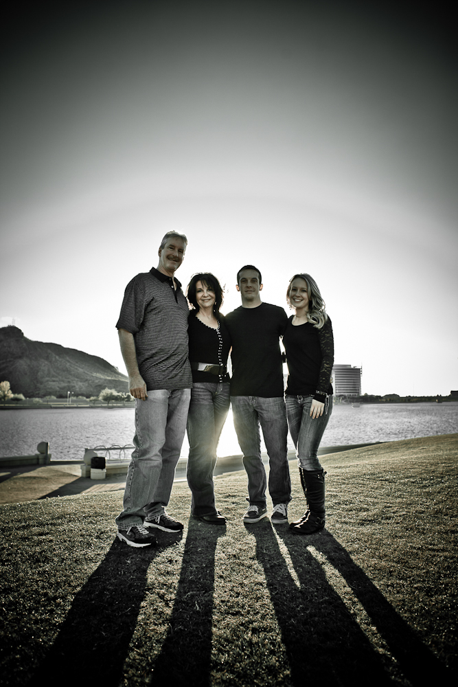 Family Portrait with the Tempe Center for the Arts in the Background