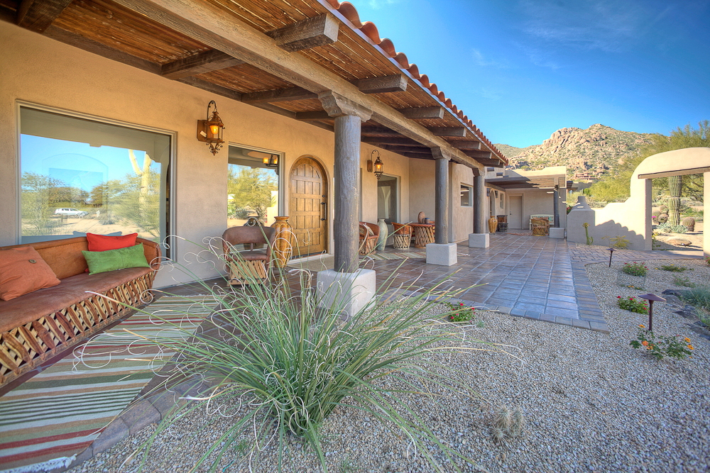 Phoenix real estate photography carefree luxury home for Spanish ranch style homes