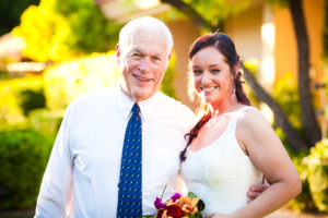 bride and father of the groom