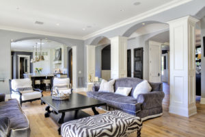 family room architectural shot
