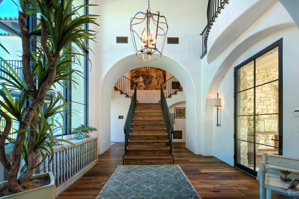 dramatic front entry to home