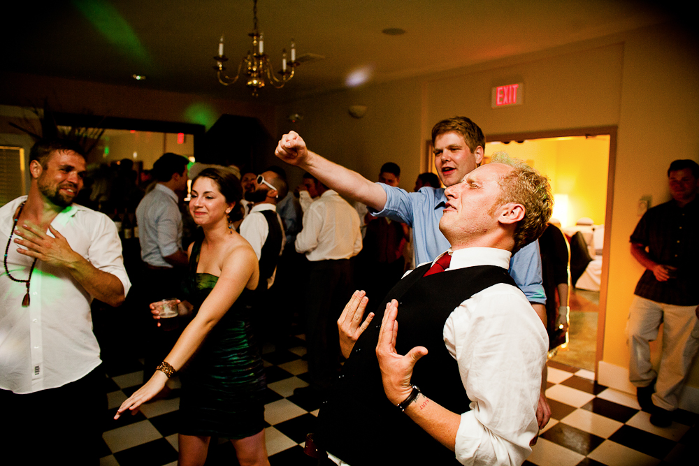 party guest getting down to Journey