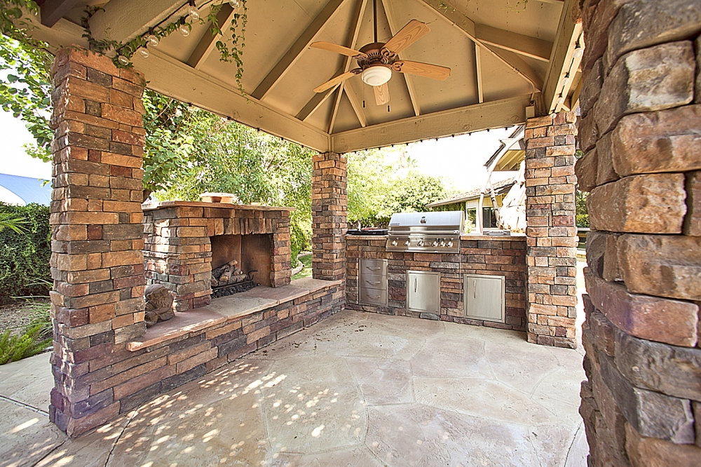 fireplace and grill
