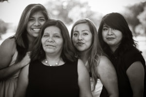 mom and her three daughters