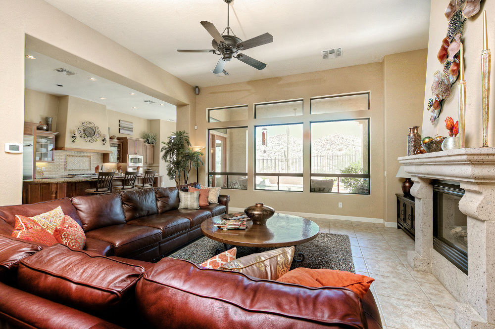 wide view of living room